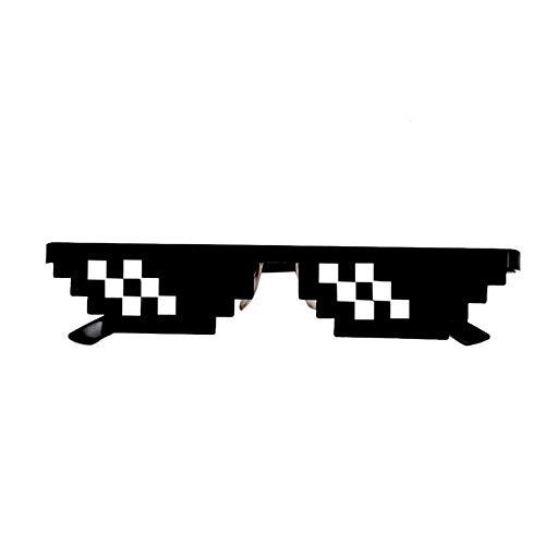 Fliyeong Lustiges Spielzeug für Kinder, Brille 8-Bit-Pixel-Deal mit es Sonnenbrillen Unisex-Sonnenbrille Spielzeug B praktisch