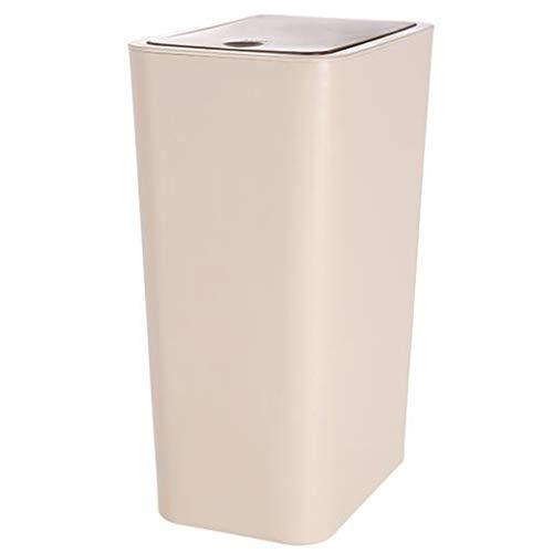 LAOMAO Poubelle carrée Blanche - Type de Couvercle de Salle de Bain, Cuisine, Salon, Tube de Papier créatif, Grand, Poubelle Couverte 7L, 8,5 litres (Taille : 8.5L)