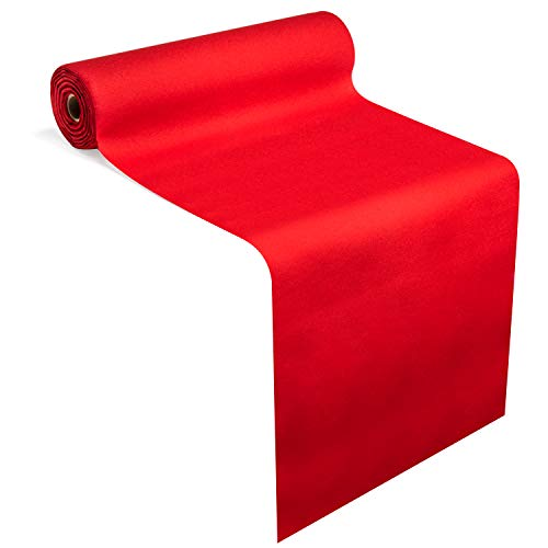 """American Homestead Paper Dining Table Runner for Party 78 ft = 20 Perforated Table Runners 16"""" x 48""""- Linen-Like Disposable Tablecloth/Table Cover Roll - Strong, Absorbent & Compostable (Red)"""