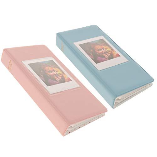 PETSOLA 2PCS 64- Estuche para Fotos de álbum de Fotos para Fuji SQ20 / SQ10 Azul + Rosa