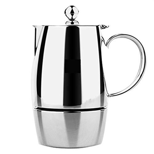 Europees-Style roestvrijstalen Moka pot - Espresso Koffiemachine - Met kookplaat Filter Papier Hoeveelheid Bonen Lepel Afdichtingsclip -3/6 Cup - Thuisgebruik