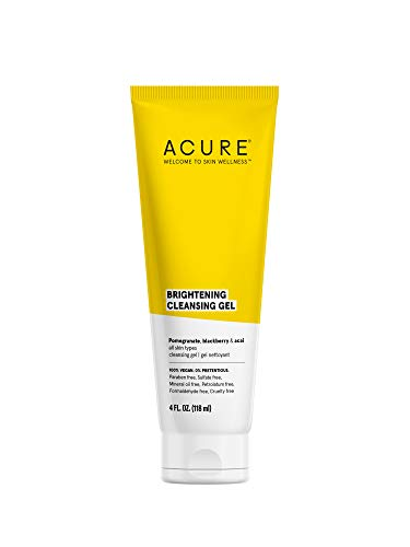 ACURE Brightening Cleansing Gel | 100% Vegan | For A Brighter Appearance | Pomegranate, Blackberry &...