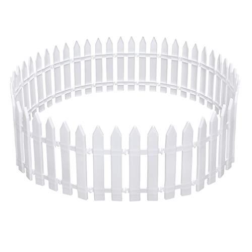KESYOO 30 Pcs Cerca de Fadas Ornamento de Jardim Em Miniatura de Emenda de Plástico Em Miniatura Branca Bonsai Cerca para Decoração de Jardim de Natal