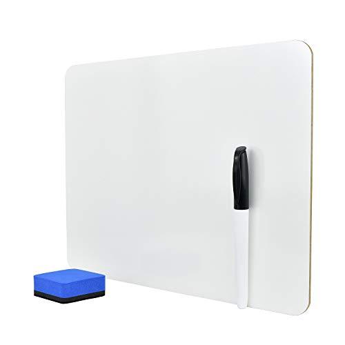 TOEFL Whiteboard (auch GMAT, GRE), 23x30cm, einfach beschreibbar, mit Stift und Schwamm
