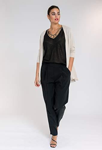 OCTOBER Camiseta Trenza Curvy Negro L