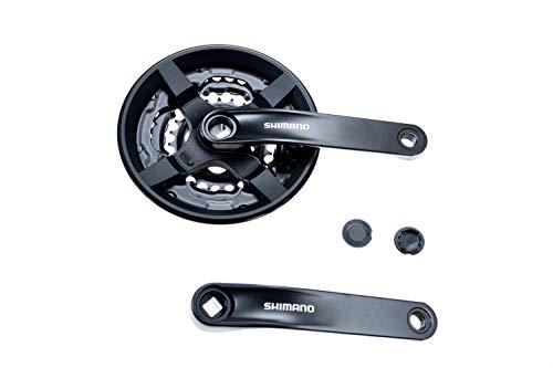 Shimano Tourney Fahrrad Kurbel Garnitur FC-TY301 Vierkant 42-34-24 Zähne für 3x6/7/8 Fach 170mm