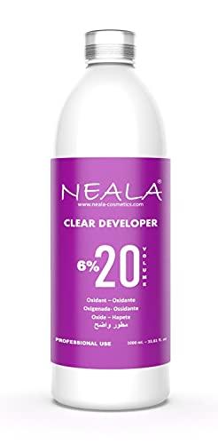 NEALA oxidante 20 vol 6% enriquecida y perfumada - Crema oxigenada para el desarrollo de tinte para el cabello, 1 litro