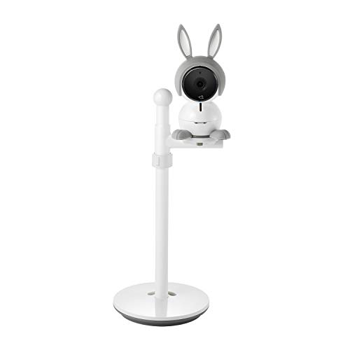 Arlo Baby Monitor   Smart Wi-Fi Baby Camera with Table/Wall Stand   1080P HD with 2-Way Audio, Night Vision, Air Sensors, Lullaby Player, Night Light, Compatible with Alexa, HomeKit   ABK1000, White