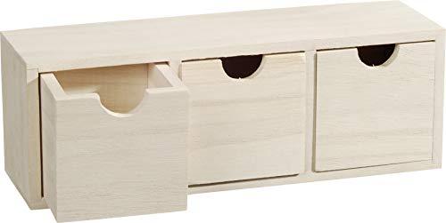 Knorr Prandell Caja de Madera para estantería de Madera con 3-cajones, marrón