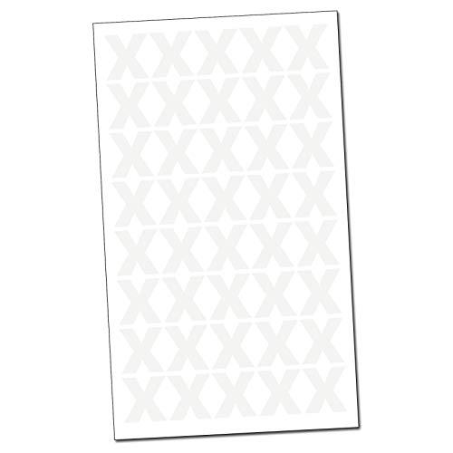 40 Leuchtende Aufkleber X im Set Nachtleuchtend Phosphoreszierende Wandsticker Markierung Hinweis Folie ((K009) X)