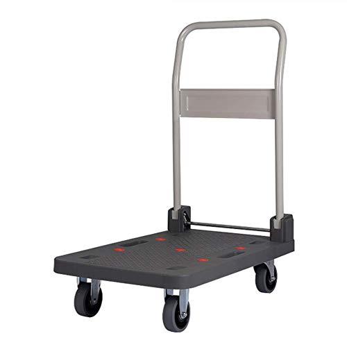 Gz-push chariot fonctionnelle en plate-forme de manutention pliable quatre roues motrices Portable scanner à plat chariot de logistique (Taille: L)