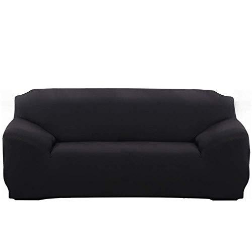 JIAYOUFC Sofa Slipcovers, Extendable JIAYOUFC Sofa Slipcovers with Armrests Comfortable JIAYOUFC Sofa Slipcovers for Living Room Bedroom (Black,3 Seater/Sofa)