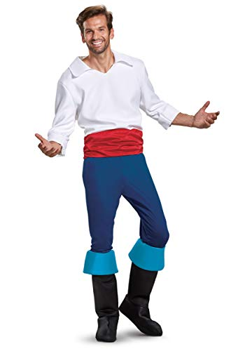 Disguise Prince Eric Deluxe Mens Costume Medium Blue