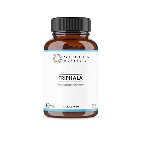 STILLER nutrition® Premium Bio TRIPHALA 500mg Kapseln - 180 Kapseln - Hochdosiert - Naturrein - Ayurveda Nahrungsergänzung - Bio-Qualität - Kontrolliert in Deutschland