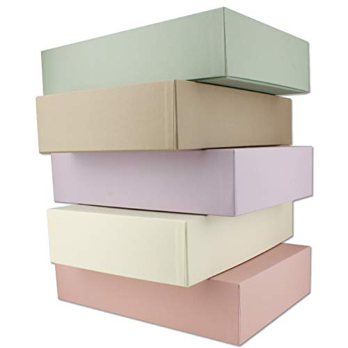 Cajas de almacenamiento y regalo de alta calidad, 25 unidades, DIN A4, colores pastel, 302 x 213 x 70 mm