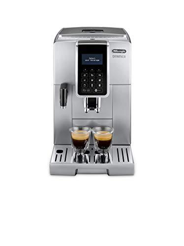 De\'Longhi Dinamica ECAM 350.75.S Kaffeevollautomat mit Milchsystem, Cappuccino und Espresso und auf Knopfdruck, Digitaldisplay mit Klartext, 2-Tassen-Funktion, Großer 1,8 Liter Wassertank, silber