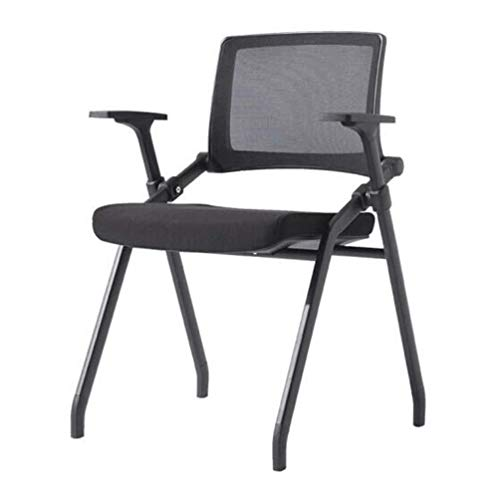 wuzhengzhijia Folding Chair, Folding Stool, Mesh Waterproof, Easy to Clean, Durable Outdoor Home Office - Black