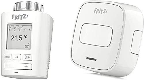 FRITZ!DECT 301 & FRITZ!DECT 400,Kombipakete,Gute Qualität,Intelligenter Heizkörperregler für das Heimnetz,portabler Taster für Smart-Home-Bedienung