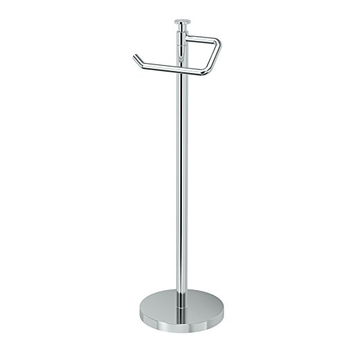 Top 10 best selling list for free standing toilet paper holder with cover chrome
