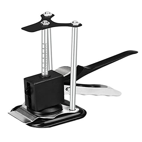 ARVALOLET Regulador de altura de azulejos de acero inoxidable, brazo de precisión, elevador de baldosas, localizador de azulejos de pared, azulejos de cerámica, ajuste de altura