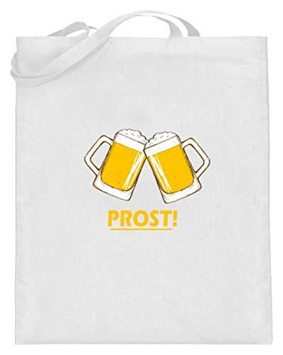 Prost! Una bolsa de yute con asas largas, diseño de Oktoberfest Tost...