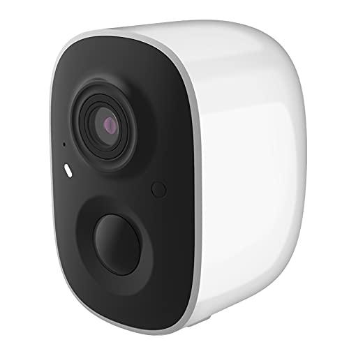 Montloxs Cámara de Seguridad inalámbrica 1080P Full HD WiFi Cámara de vigilancia con batería Recargable con Audio bidireccional, visión Nocturna, detección de Movimiento, Acceso Remoto, IP65 a Prueba