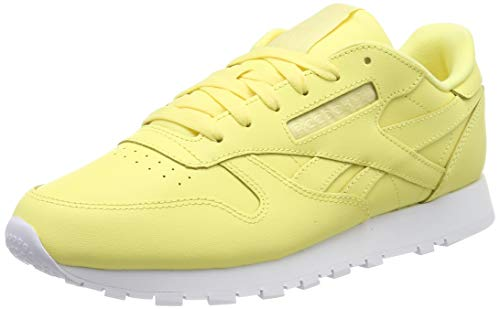 Reebok Classic Leather, Zapatillas Mujer, Amarillo (Filtered Yellow/White 0), 37.5 EU