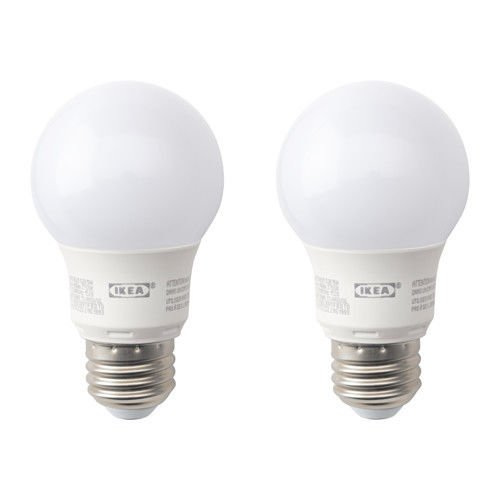 IKEA RYET LED Bulb E26 400 Lumen Globe Opal Set Of 2
