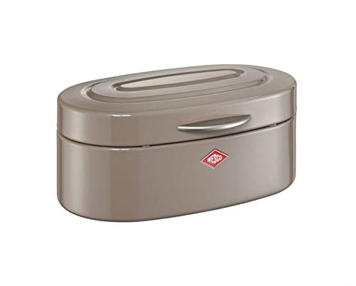 WESCO 236101 Brotkasten SINGLE ELLY Classic Line Brotbox Retro-Brotkasten% SALE%, Farben:Warm Grey