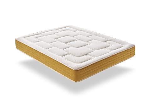 ECCOX - Colchón de Muelle Ensacado Elite Gold 135X190 Altura 30 cm +/-2, Acolchado en 5 cm de Visco + Supersoft, Firmeza Media