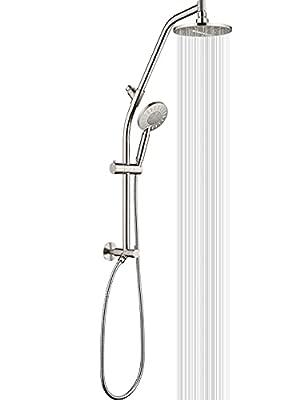Rain shower head with Handheld Spray two shower heads combo