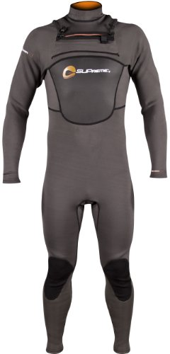 SUPreme Men's Blade 3/2mm Quantum Foam Neoprene Fullsuit, Gray/Black, XX-Large