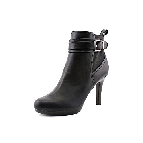 Alfani Ranjer Womens Size 10 Black Faux Leather Fashion Ankle Boots