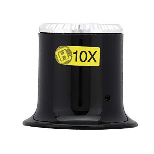 Qiterr 【𝐏𝐚𝐬𝐜𝐮𝐚】 Lupa de reparación de Relojes, Lupa de Zafiro Espejo de plástico Lente de Barril Reparación de Lupa Herramienta de Mantenimiento de Relojes Kit de reparación de Relojes(10X)