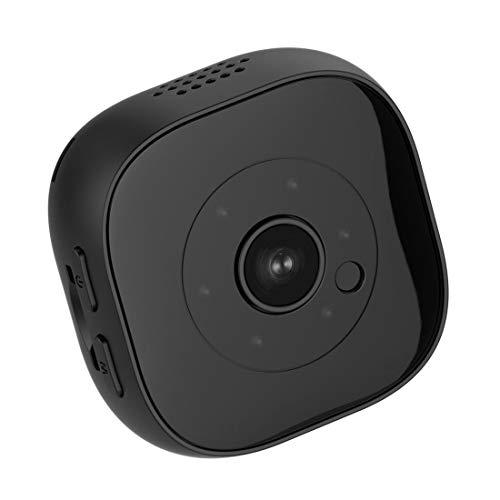 Cámara H9 Mini HD 1920 x 1080P 120 grados de gran angular, portátil, compatible con visión nocturna infrarroja y grabación de detección de movimiento y tarjeta TF de 32 GB (negro) (color: negro)