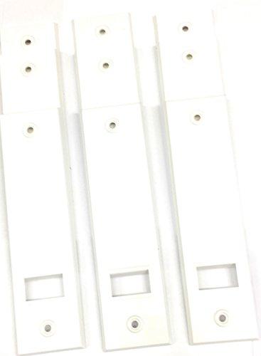 9 x jkhandel Abdeckplatte (Blende) weiß mit LA 16 cm eckige Kanten