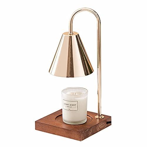 Lámpara de Cera de Vela para Perfumado, para Derretir Velas de Arriba Hacia Abajo, Lámpara de Ayuda para Dormir del Dormitorio,...