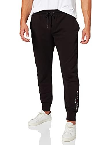 Tommy Hilfiger Hilfiger Logo Sweatpants Pantaloni da Tuta, Nero, M Uomo