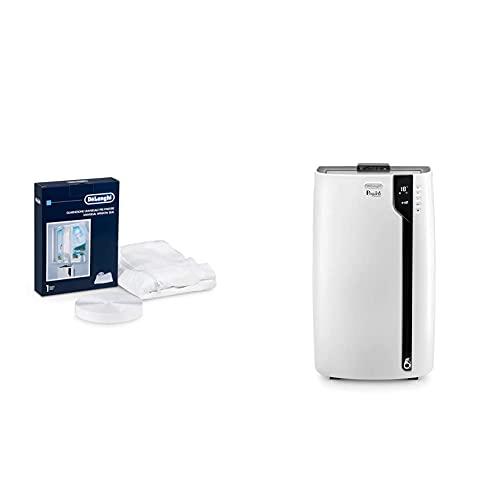 De\'Longhi Universal Fenster-Installationskit DLSA012, weiß + De\'Longhi Pinguino PAC EX100 Silent mobiles Klimagerät mit Abluftschlauch, Klimaanlage für Räume bis 80 m³, weiß