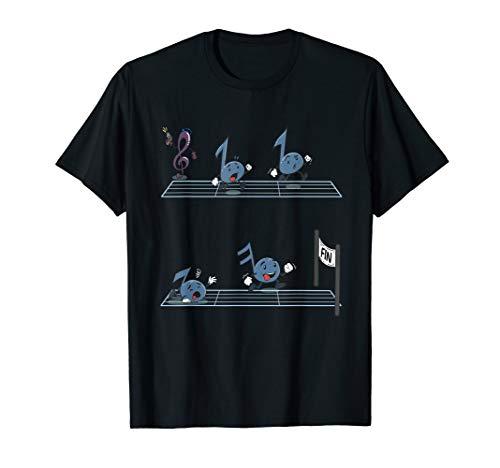 Lustiges Musik Noten Notenschlüssel Rennen Komponist Musiker T-Shirt