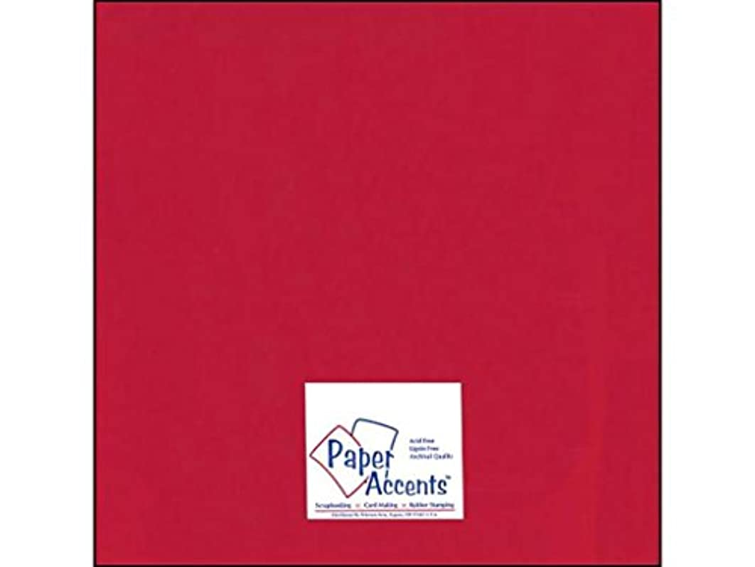 Accent Design Paper Accents AD Paper Cdstk Glossy 12x12 12pt Red