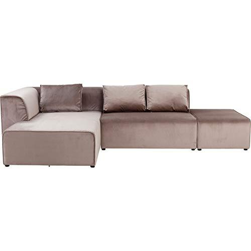 Kare Sofa Infinity Velvet Taupe Links, Grau, One Size