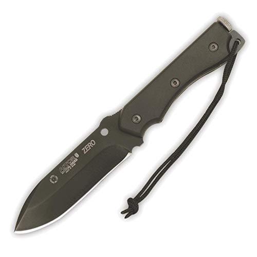 Aitor Cuchillo Zero Negro con Hoja de Acero INOX MoVa de 12...