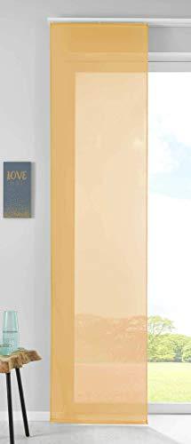 Gardinenbox Juego de Cortinas correderas, 100% poliéster, 245 x 60 cm, Color Amarillo