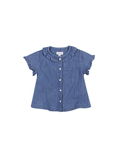 Gocco Vaquera Blusa, Azul (Denim S07cmcca101zp), 86 (Tamaño del Fabricante: T: 12/18) para Bebés
