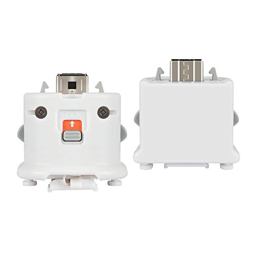 Wii Motion Plus Adapter 2 Pack for Wii Remotes, Wii Motionplus Attachment for Wii Remote Controller -White(3rd-Party Product)