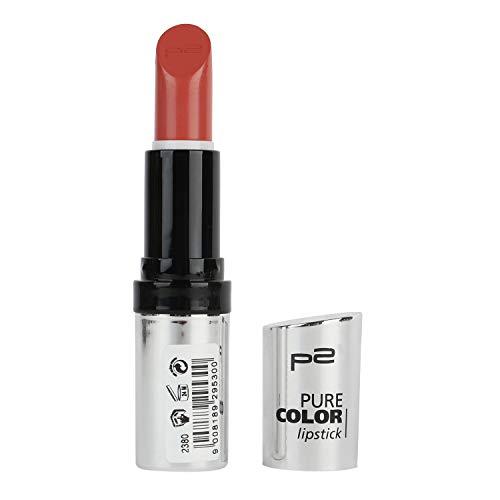 p2 Pure Color Lipstick Nr. 014 Piazza Navona Lippenstift für schöne Farbe auf den Lippen.