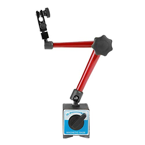AYNEFY Magnetfuß Magnet Messuhr Basis Ständer Halter Einstellbare Magnetischer Messstativ Präzision Starker für Universal Messuhren, Maschinenbau Werkzeug 60 x 50 x 55 mm