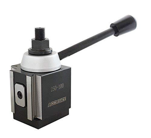 """AXA Size 250-100 Set Piston Type Quick Change Tool Post Set for Lathe 6-12/"""" USA"""