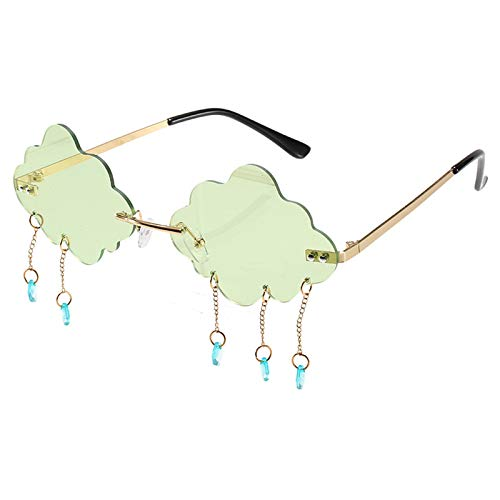 N\P Gafas de sol modelo de lágrima pieza de océano Gafas de sol Gafas de mujer